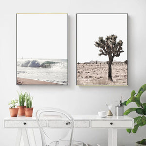 Warm Ocean Canvas Print - Burnt Spaces