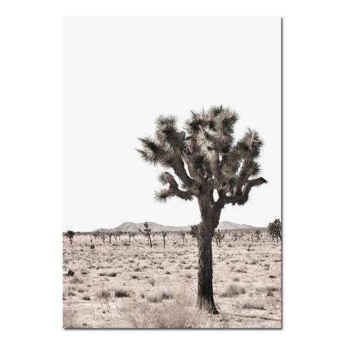 Desert Tree Canvas Print - Burnt Spaces