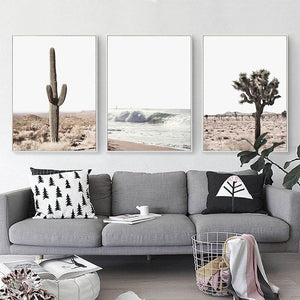 Desert Cactus Canvas Print - Burnt Spaces