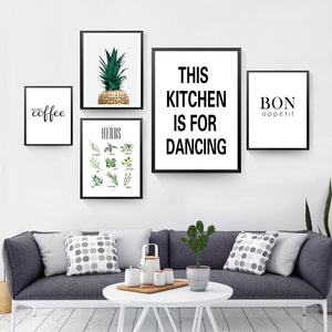 This Kitchen Is For Dancing Canvas Print - Burnt Spaces