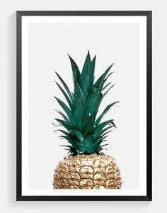 Pineapple Canvas Print - Burnt Spaces