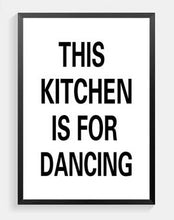 Load image into Gallery viewer, This Kitchen Is For Dancing Canvas Print - Burnt Spaces