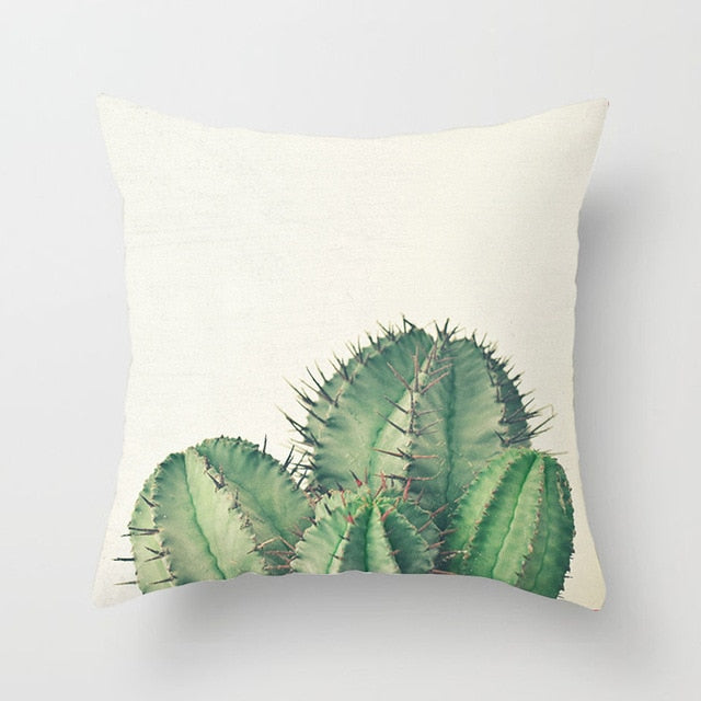 Prickly Cactus Cushion Cover