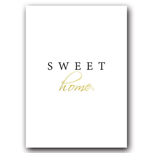 Sweet Home Canvas Print - Burnt Spaces
