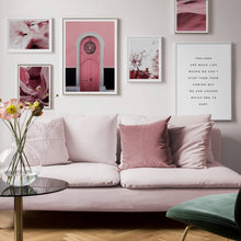 Load image into Gallery viewer, Pink Door Canvas Prints - Burnt Spaces