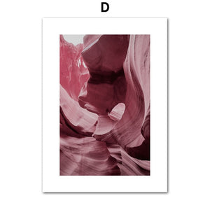 Pink Canyon Canvas Prints - Burnt Spaces
