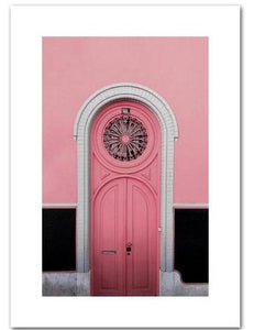Pink Door Canvas Prints - Burnt Spaces