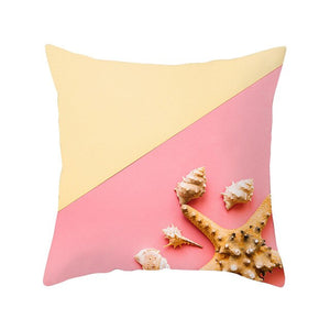 Two Tone Sea Shell Cushion Cover - Burnt Spaces