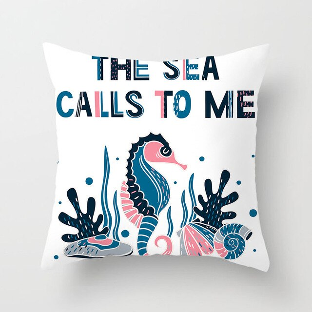 The Sea Calls To Me Nautical Cushion Cover - Burnt Spaces