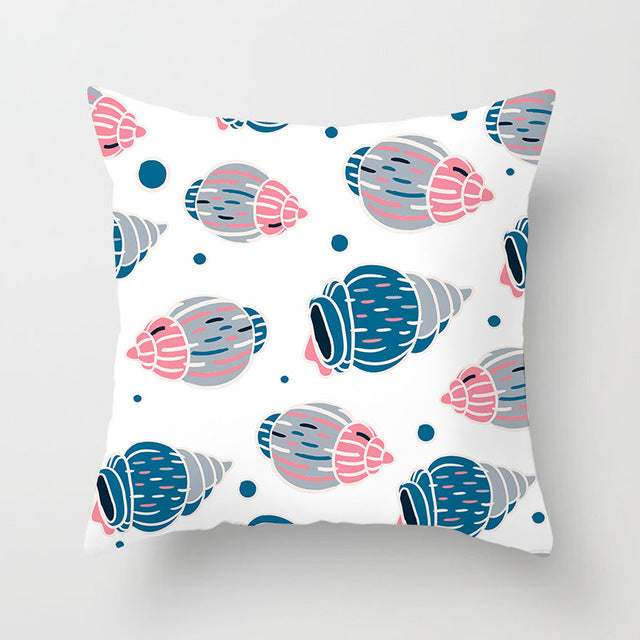 Colorful Retro Sea Shell Cushion Cover - Burnt Spaces