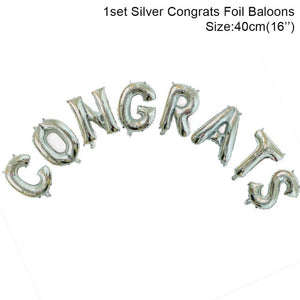 Congrats Foil Letter Balloons - Burnt Spaces