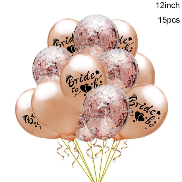 Bride To Be Mixed Balloon Set - Burnt Spaces
