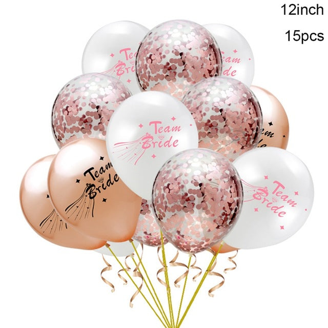 Team Bride Mixed Balloon Set
