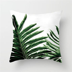 Fuwatacchi Tropical Leaves Cushion Cover - Burnt Spaces