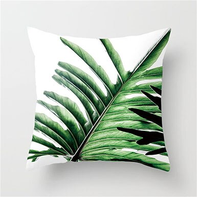 Fuwatacchi Tropical Leaf Cushion Cover - Burnt Spaces