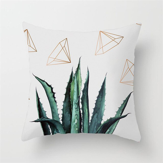 Modern Dessert Plant Cushion Cover - Burnt Spaces