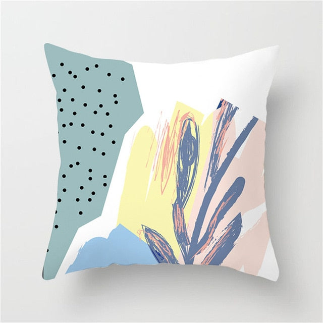 Abstract Dotted Multi-Color Cushion Cover - Burnt Spaces