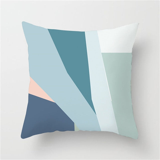 Abstract Blue and Green Tonal Cushion Cover - Burnt Spaces