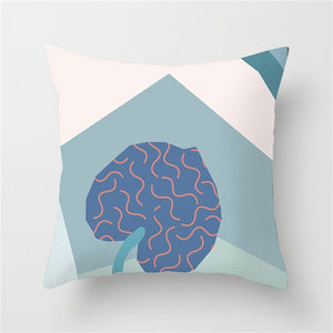 Artistic Leaf Geometric Cushion Cover