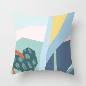 Abstract Multi-Colored Cushion Cover