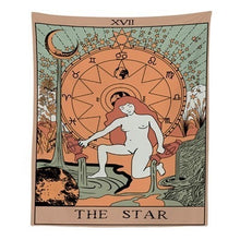 "Load image into Gallery viewer, ""The Star"" Tarot Tapestry"