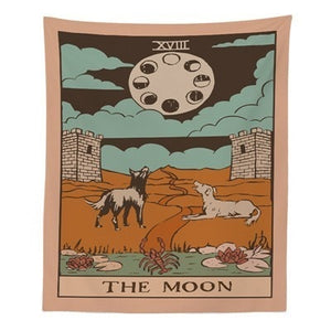 """The Moon"" Tarot Tapestry - Burnt Spaces"