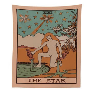 """The Star"" Tarot Tapestry - Burnt Spaces"