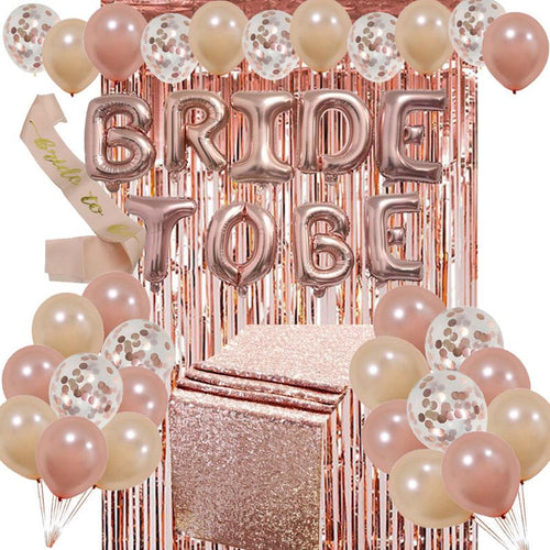 Bridal Rose Gold Decoration Kit.