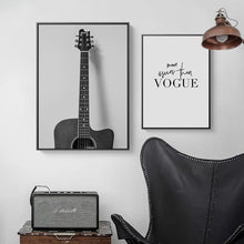 Load image into Gallery viewer, Nostalgic Guitar Canvas Print - Burnt Spaces