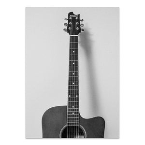 Nostalgic Guitar Canvas Print - Burnt Spaces