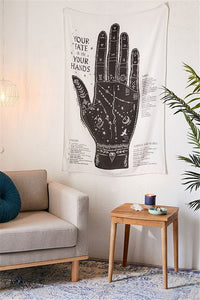 Bohemian Hand Reading Tapestry - Burnt Spaces