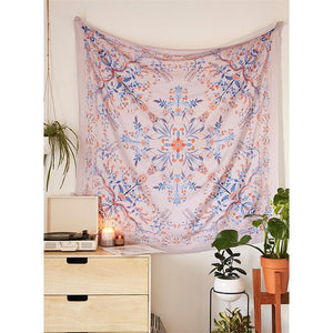 Psychedelic Bohemian Mandala Tapestry - Burnt Spaces