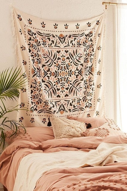 Bohemian Floral Tapestry