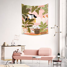 Load image into Gallery viewer, Hand Drawn Plant Illustration Tapestry - Burnt Spaces