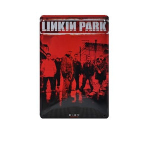 Linkin Park Vintage Tin Poster - Burnt Spaces