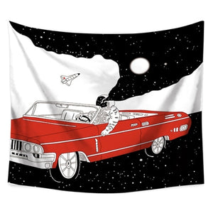 Drive Me To The Moon Tapestry