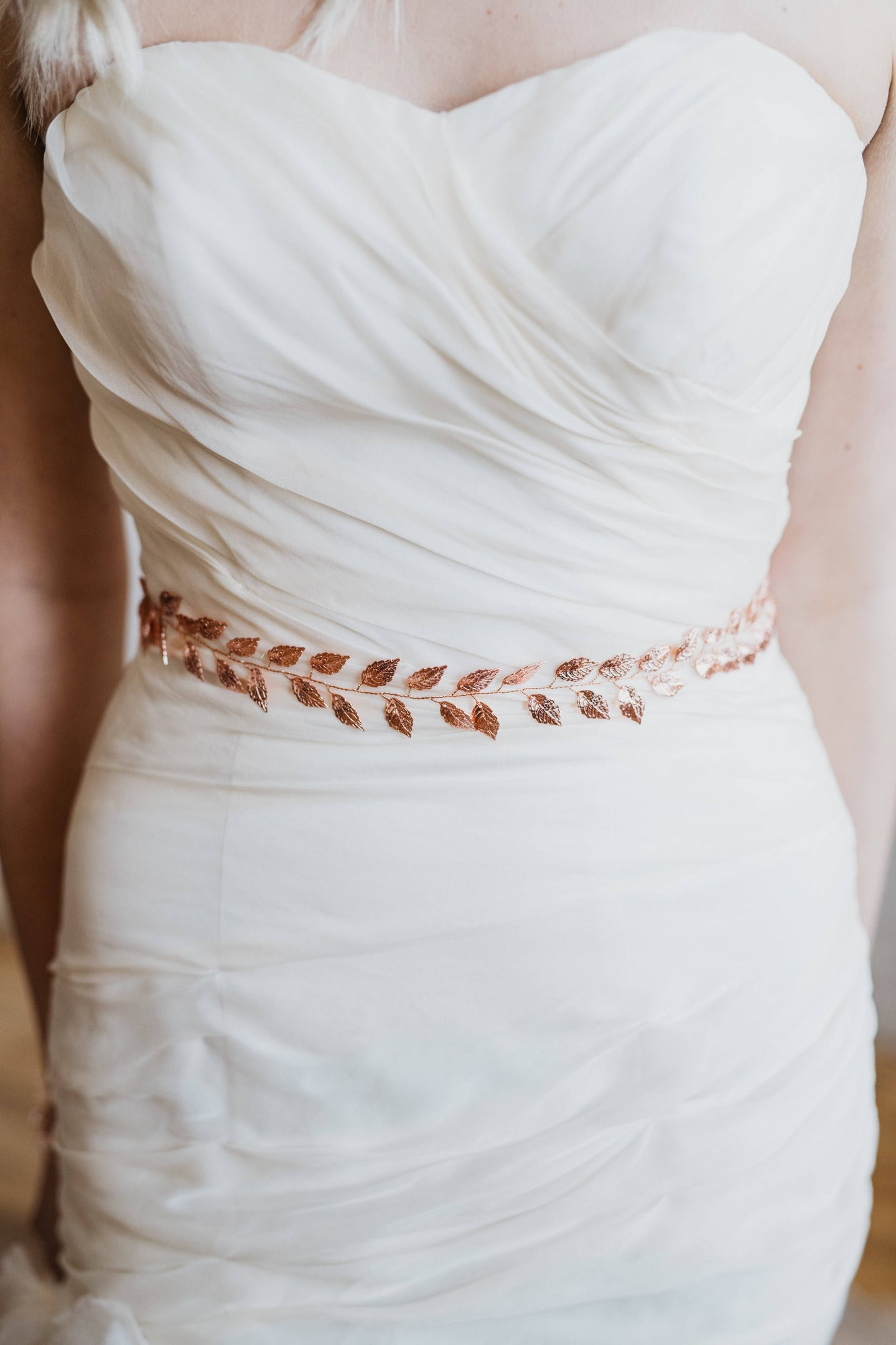 Rose Gold Bridal Sash