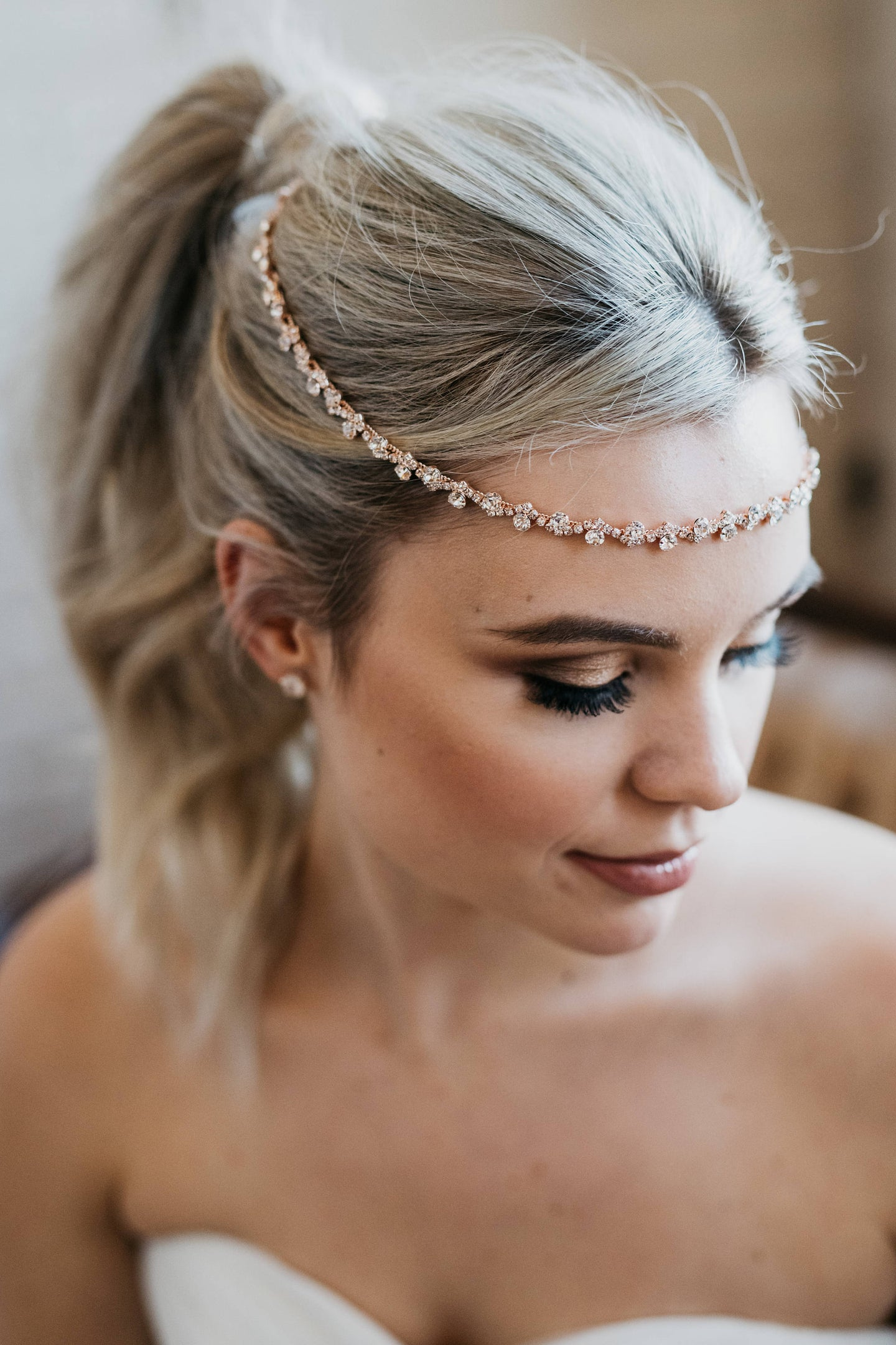 Rose Gold Bridal Halo