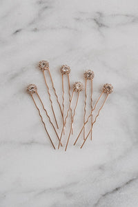 Rose Gold Hair Pins