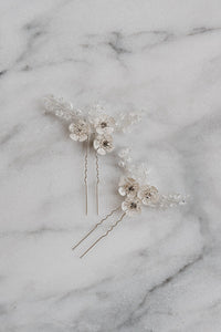 Silver Bridal Hair Pin