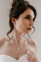 Load image into Gallery viewer, Silver Bridal Necklace
