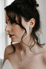 Load image into Gallery viewer, Crystal Leaf Earrings