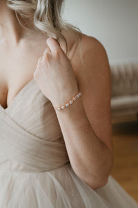 Rose Gold Wedding Bracelet