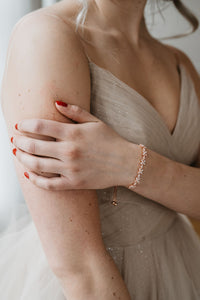 Rose Gold Bridal Bracelet