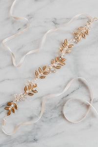 Gold Leaf Bridal Belt