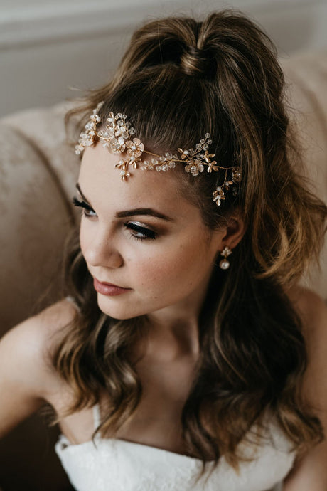 Gold Flower Bridal Hair Vine