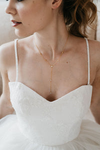 Gold Bridal Strand Necklace