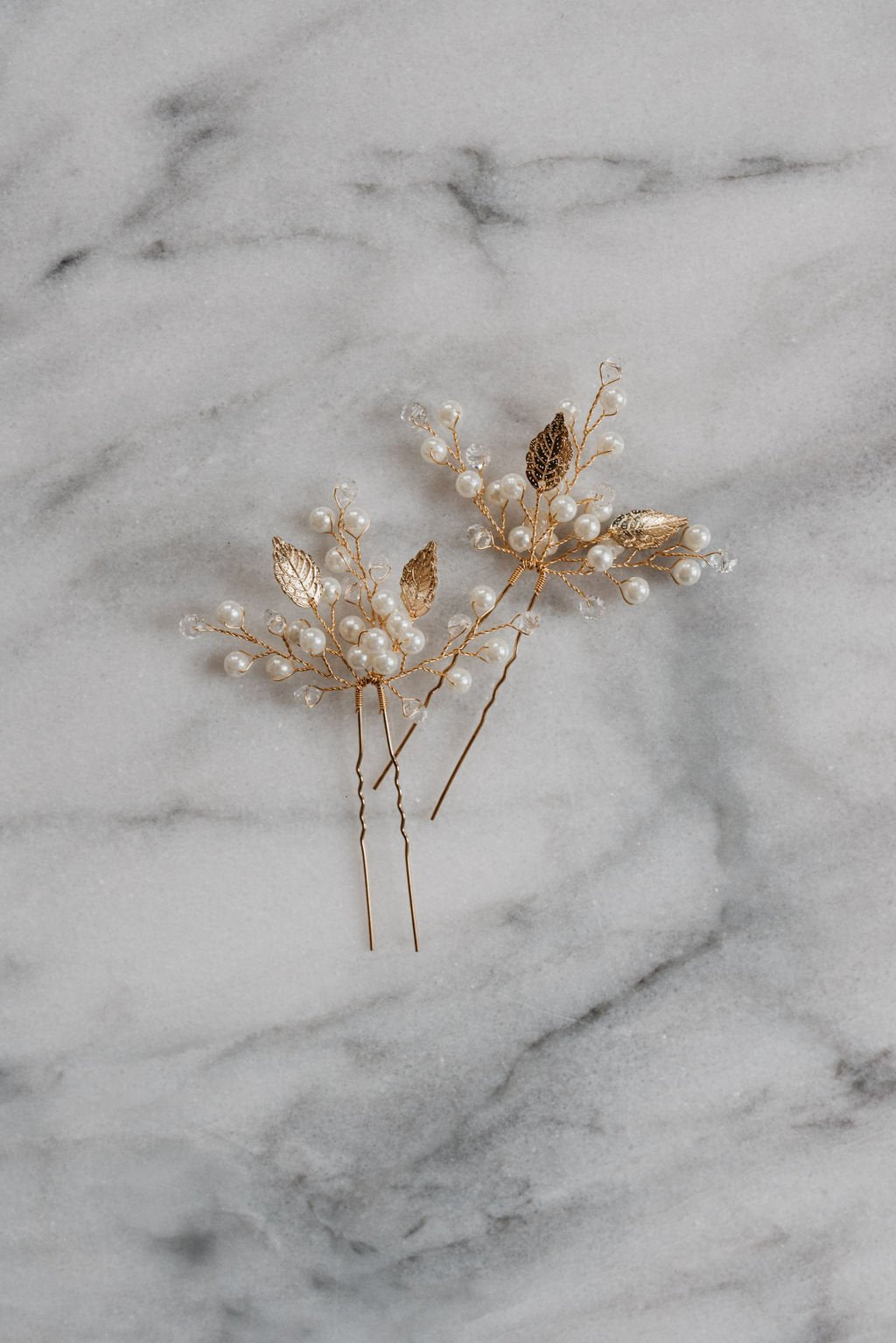 Gold Leaf Hair Pin
