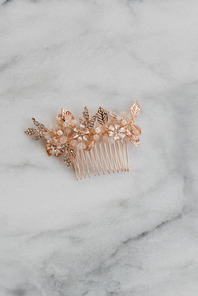 Rose Gold Hair Comb