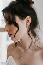 Load image into Gallery viewer, Silver Bridal Earrings